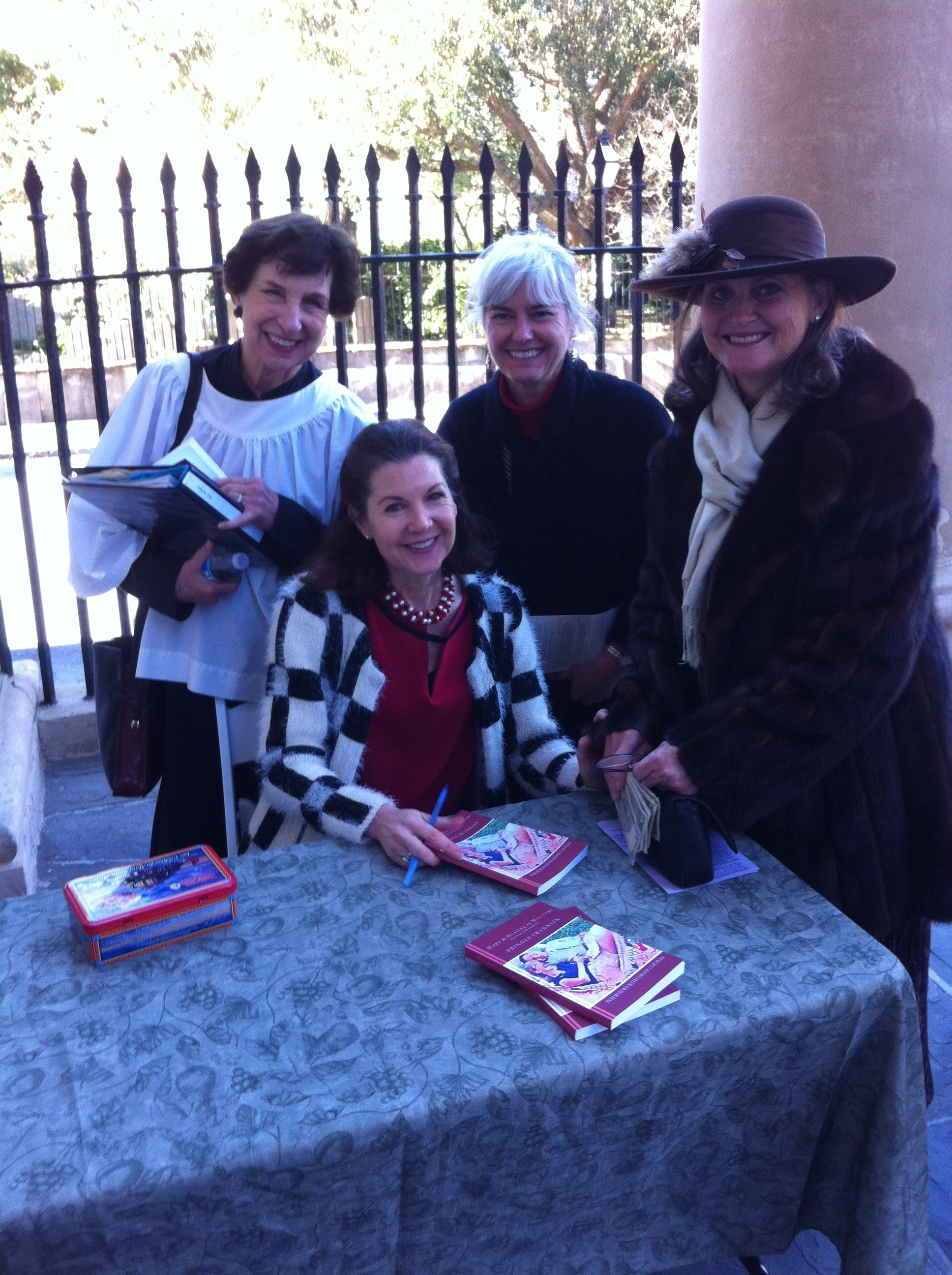 Author Pringle Franklin at a book-signing at St. Philip's Church, Charleston, S.C.